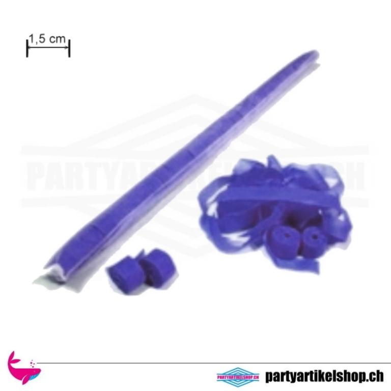 Luftschlangen - schmale Ausführung 1,5cm x 5 Mtr.  - aus Papier Blau