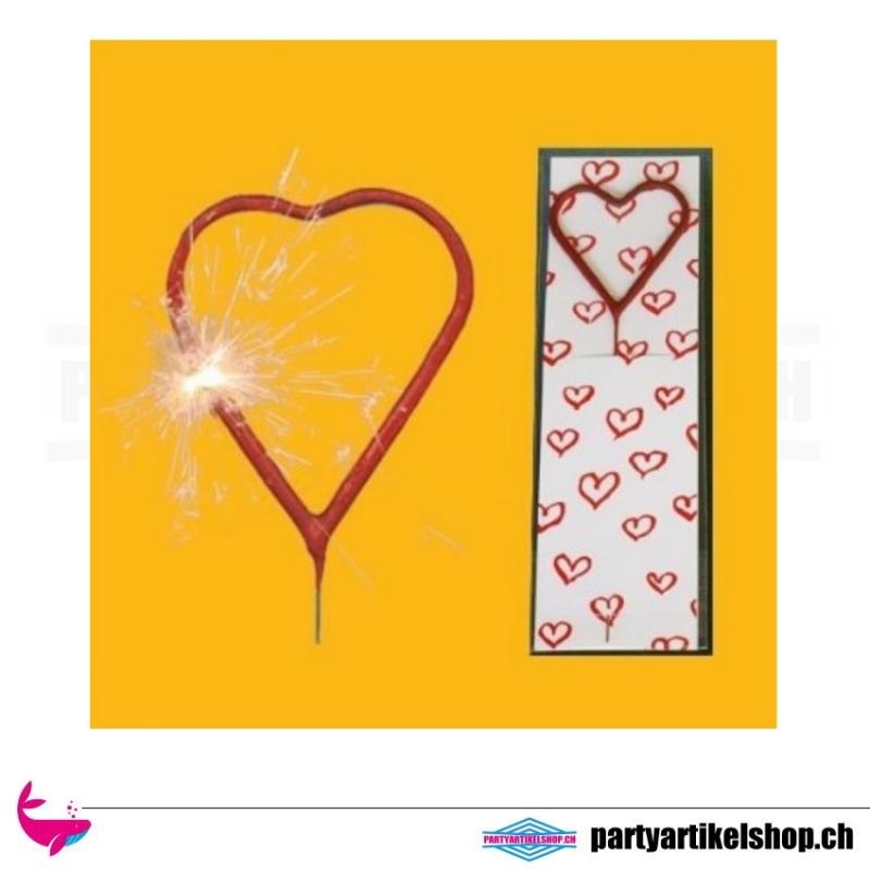 Wunderkerze in Herzform