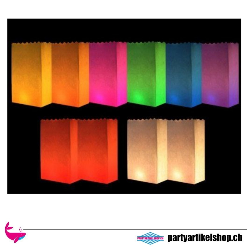 10 Stk. Luminaria Lichttüten Candle Bag mix