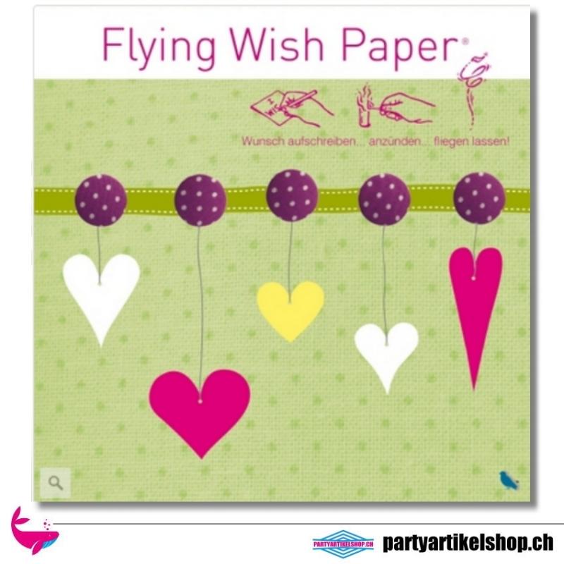 Flying Wish Paper - Motiv Hearts II