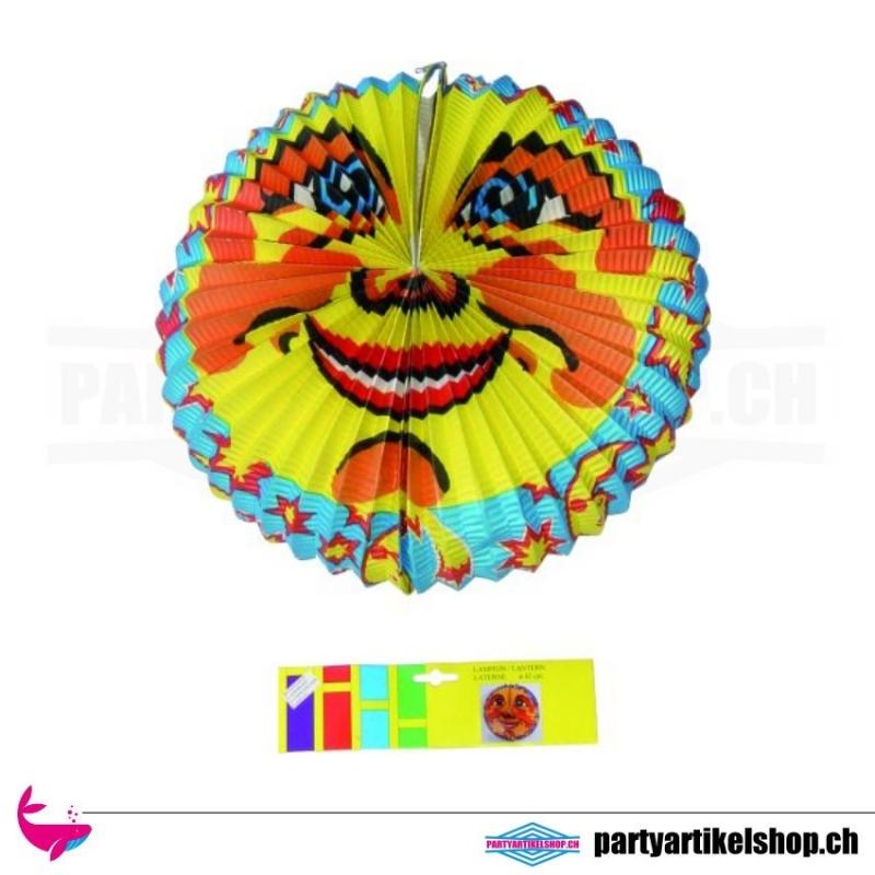 Lampion oval mit Sonnenmotiv - oval