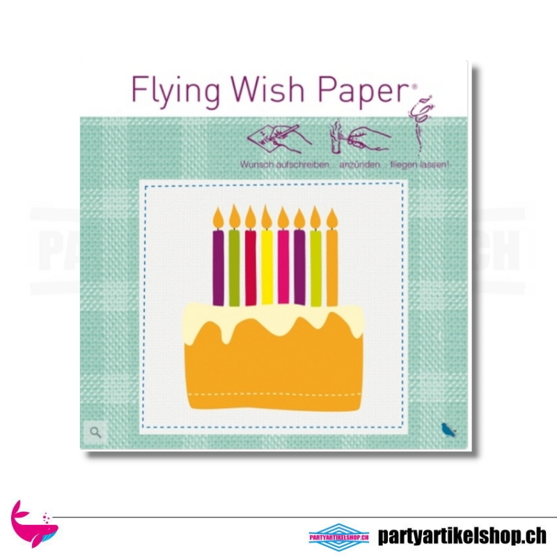 Flying Wish Paper - Motiv Birthday