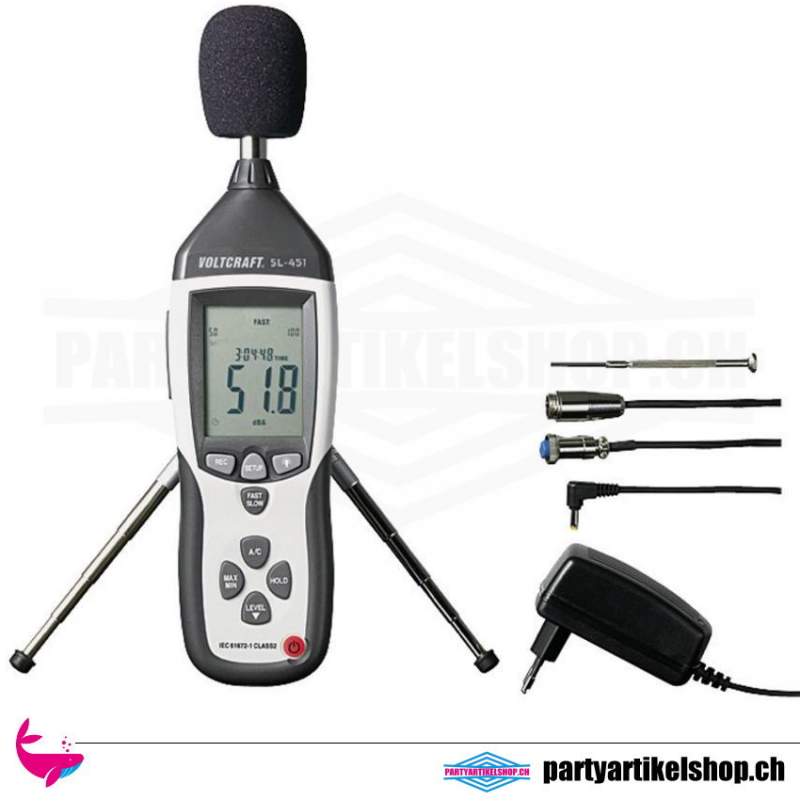 Schallpegel-Messgerät - 130 dB 31.5 Hz - 8 kHz zum mieten