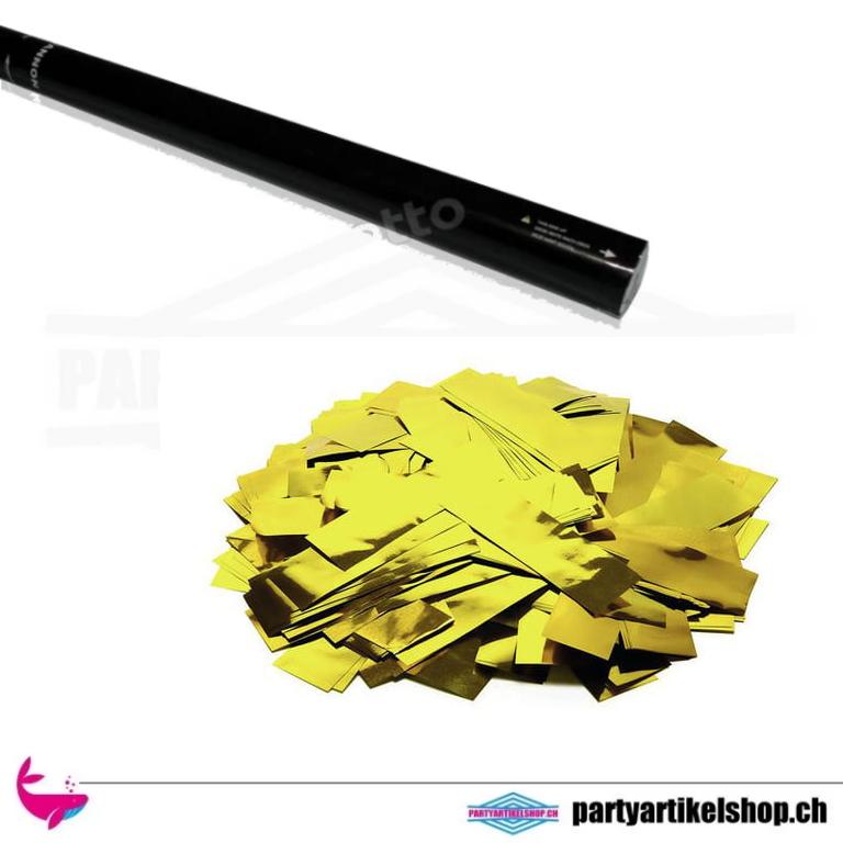Confettikanonen 80cm mit Metallic Konfettifüllung - Gold