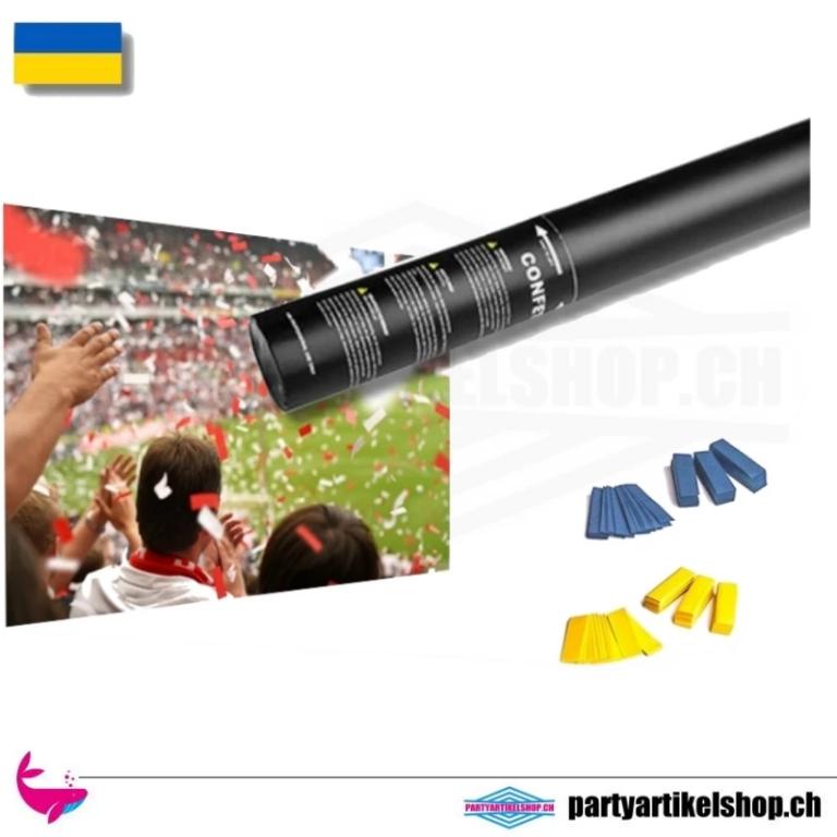Druckluft Konfettie Shooter *Fan Edition* Ukraine