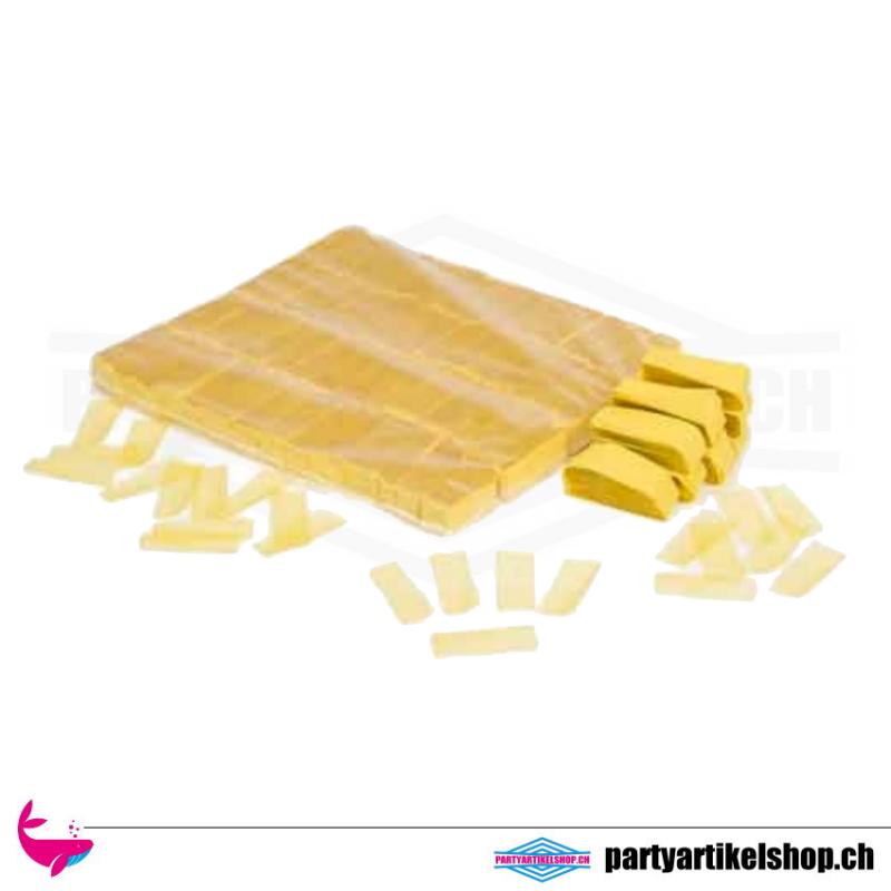 Umweltfreundliches Konfettie (Bio) Gelb - 1Kg