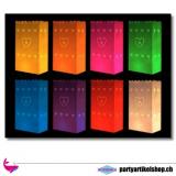 Himmelslaternen - Lichttüten verschiedene Farben (mit Herzen)