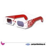 3D Herzbrille - sprühende Herzfunken durch die Brille