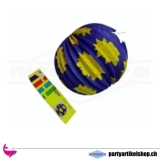 Ballonlampion aus Papier mit kleinen Sonnen