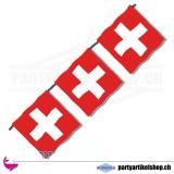 Stofffahnenkette mit 15 schweizer Fahnen
