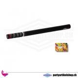 Party Popper Konfettikanone gross (80 cm) - umweltfreundliches buntes Biokonfetti