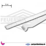 Papier Luftschlangen Weiss (Streamer) - breite Ausführung 5cm x 20 Mtr.