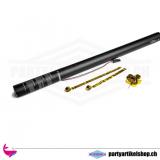 Grosse Luftschlangenkanone - 80cm - elektrisch mit metallic Luftschlangen
